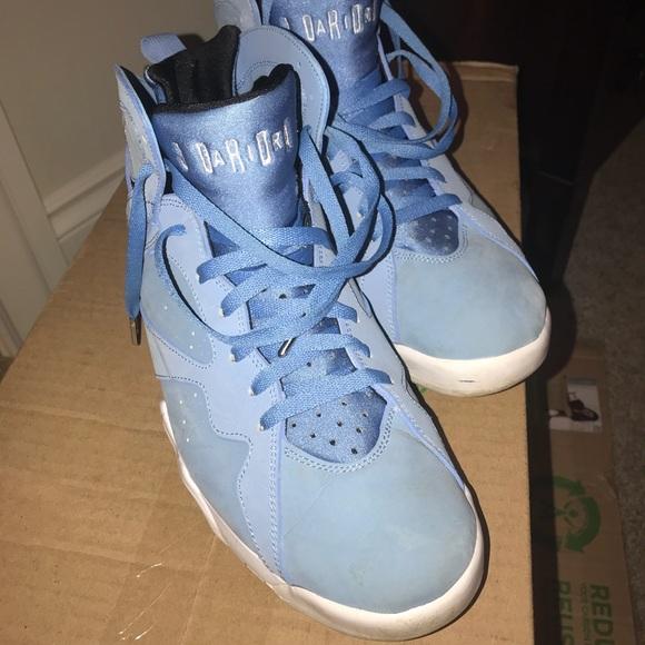 Retro University Blue Air Jordan 7s